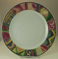 "SAKURA MALAGA Round 12-5/8"" CHOP PLATE Abstract Art Sue Zipkin Discontinued 2003"
