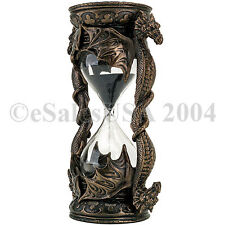 Dragon Hourglass Black Sand Timer Medieval Glass 5 Minutes Time Guardian Magic