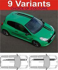 Renault Clio Megane Sport Motorhaube Dach Streifen Aufkleber Grafik