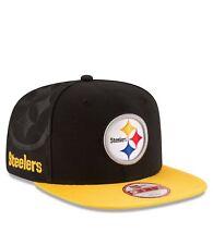 Pittsburgh Steelers Hat Black Retro Throwback New Era 9FIFTY NFL Snapback NEW