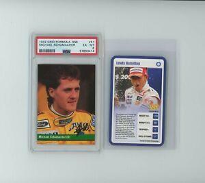 2009 Top Trumps Lewis Hamilton RC ROOKIE & 1992 Michael Schumacher PSA 6
