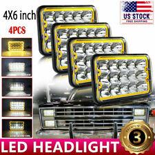 "DOT Approved 4pcs 4x6"" LED Headlights Hi/Lo Beam for Chevy C10 C20 C30 Camaro EI"