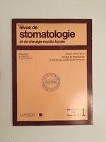 Rivista Di Stomatologia E Chirurgia Maxillo-Facciale Masson Volume 76 N°1 1975