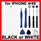 Replacement Touch Panel Front Glass Screen Cover + Tools for Apple iPhone 4S 4