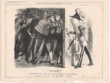 1871 Punch Cartoon Army Bill Doom'd by Lords