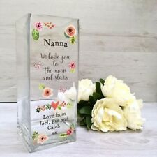 Personalised Printed Vase - Mother's Day, Mum Gift, Nanna Gift (Moon & Stars)