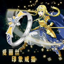 Sword Art Online Alicization Alice Adjustable Finger Ring 925 Silver Jewelry