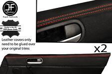 RED Stitch 2x TOP PORTA CARD PAD FINITURA PELLE COPERTINE Si Adatta Mazda MX5 MK3 05-14