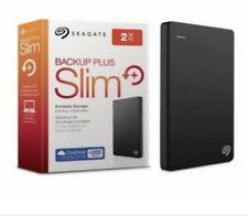Seagate Backup Plus Slim 2tb External Hard Drive USB 3.0 black