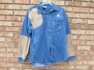 Columbia Hunting Denim Button Up Shirt Medium Nice Shirt