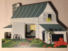 WOW! Vtg '93 SHELIA'S Collectibles AMISH BARN #AMS04 / handwritten PRE-Logo