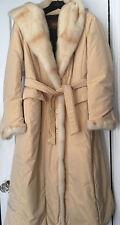 Winter mink trim coat