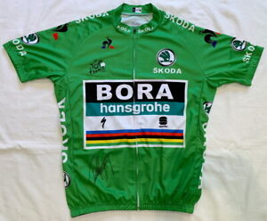 Peter Sagan signed 2018 Tour de France green cycling jersey Bora *Proof*