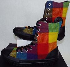 New Womens CONVERSE 8 CT Hi Rise Wool Winter Boots Plaid Shoes $90 549687C