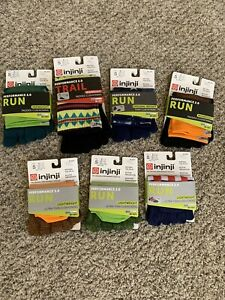 Variety Pack Of Injinji Performance 2.0 Toe Socks 7 Pairs Total Size Small