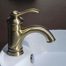 Antique Bronze Bathroom Sink Faucet Single Handle Hole Vessel Basin Mixer Tap