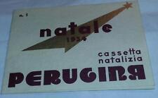 perugina-natale 1934-cassetta natalizia-distinta del contenuto-brochure-baci