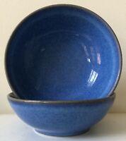 "Denby ENGLISH BLUE Stoneware 2 Cereal Bowls  England 5 7/8"""