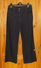 WALLIS dark blue indigo stretch denim jeans trousers pants 12 PETITE 40