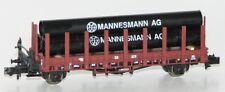 Minitrix / Trix N 11130-4 Rungenwagen mit Mannesmann-Röhren der DB AG NEU + OVP