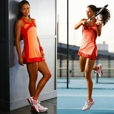 Adidas AdiZero Women's Orange Red Stretch Fitness Workout Tennis Dress Size S