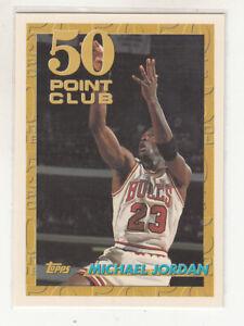 MICHAEL JORDAN 1993-94 Topps 50 Point Club #64 Chicago Bulls The Last Dance Mint
