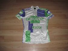 Descente Blue/White/Gold Size Large Cycling Jersey/Made In Japan/Free Shipping!