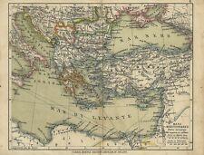 Mare Mediterraneo Ulrico Hoepli Stampa Ottocentesca 1890 c.a