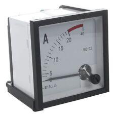 AC 0-20A Current Testing Analog Panel Meter Amperemeter, quadratisch F1P9