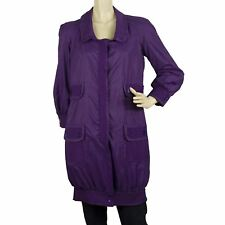 Red Valentino Knee Length Purple Trench Lightweight Jacket size 40