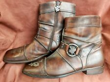 MARK NASON Men's  Brown DISTRESS BOOTS MADE IN ITALY SIZE 12