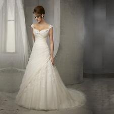 ROMANTIC A LINE WEDDING DRESS. BRIDAL GOWN. HANDMADE.