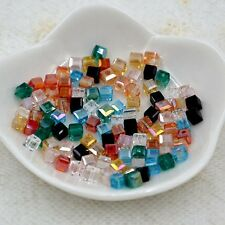 325 Pieces 4mm Swarovski cube crystal bead  mixed color