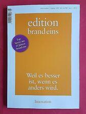 Edition Brand Eins #8 April-Juni/2020 Innovation ungelesen