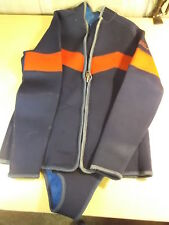 Wenoka Sea Style Diving Suit Wetsuit, Red/Dark Blue, Size XL Extra Large