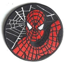 "Spider-Man Web Logo   3"" Embroidered Patch- FREE S&H (SMPA-04)"