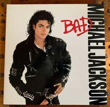 Michael Jackson 'Bad' Vinyl, 1987 LP Record Album OE 40600 - EUC