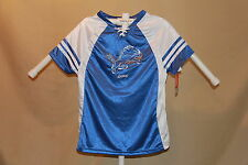 Detroit Lions NFL Fan Fashion JERSEY/Shirt  MAJESTIC  Womens Large NWT  shimmer