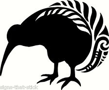 NZ KIWI SILVER FERN BIRD WARRIOR KORU NEW ZEALAND MAORI AOTEAROA CAR STICKER #5