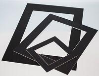 Black Photo Picture Frame Mounts Bevel Cut 1.4mm White Core Mount board