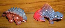 Ü-Ei vor 1983 Dinosaurier Urtiere Saurier Dimetrodon + Ankylosaurus