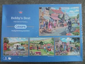 GIBSONS 4 X 500 PIECE JIGSAW PUZZLES, BOBBY'S BEAT