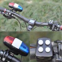 Fahrrad Polizei LED Licht+4 Laute Sirene Sound Trompet Radfahren Horn Bell