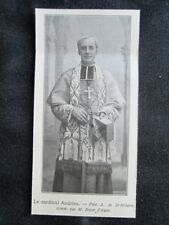Il cardinale Pierre-Paulin Andrieu nel 1909 Stampa del 1909