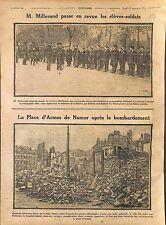 Alexandre Millerand Revue Elèves-Soldats Place d'Armes de Namur  WWI 1914
