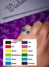 Mood Ring Butterfly, Silver Plated Adjustable x 1, Gift,Aussie Seller,Free Post