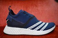Adidas NMD R2 PK WHITE MOUNTAINEERING Women Navy Blue White BB3072  Size 10