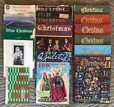 18 Piece Vintage Christmas Sheet Music LOT Etude Magazine Yuletide International