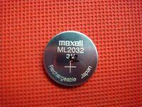 Maxell 3V ML2032  Rechargeable LIR2032 CMOS Battery ML 2032 ML2016(Loose)