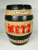 "Vintage Metz Beer 🍺 Barrel Keg Ceramic Bank Metz Brewing Co. Omaha NE 8-1-2"""
